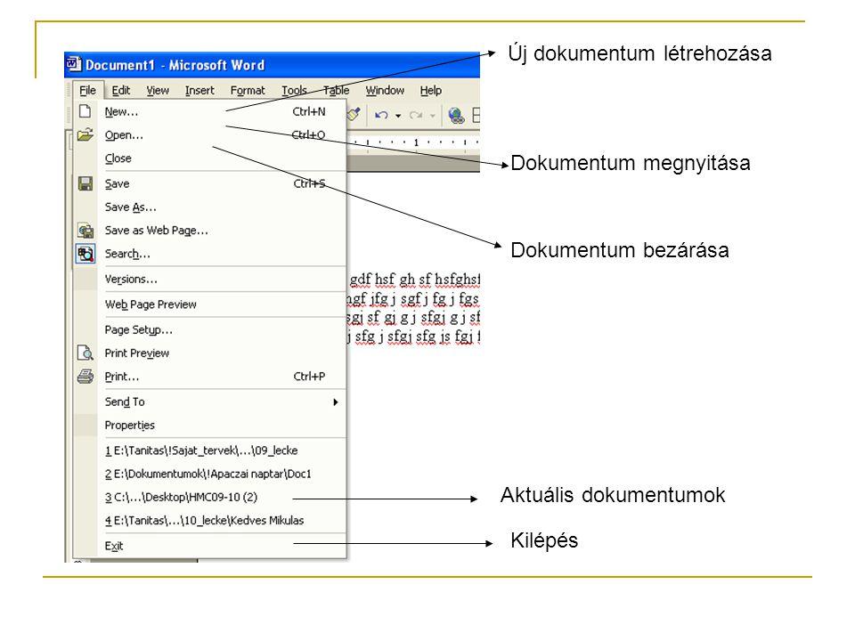 Új dokumentum létrehozása