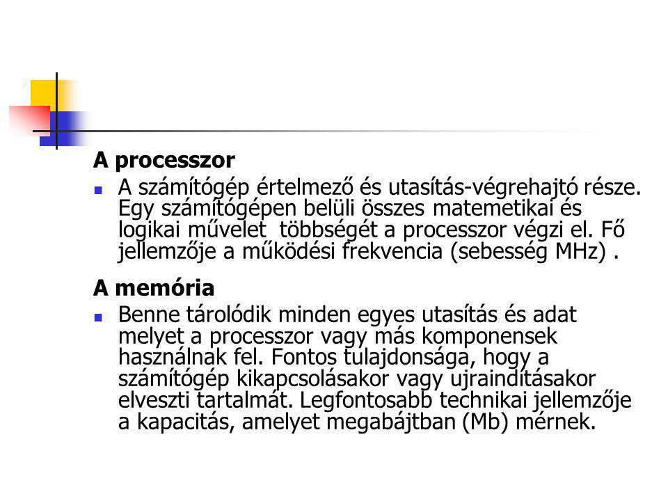 A processzor