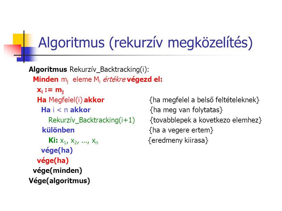 Algoritmus (rekurzív megközelítés)