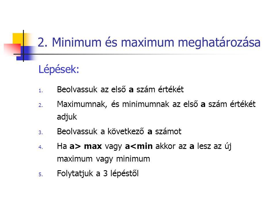 2. Minimum és maximum meghatározása