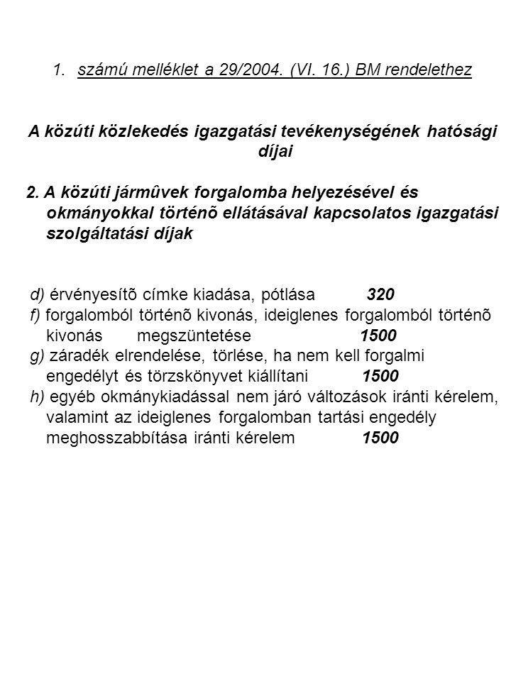 A közúti közlekedés igazgatási tevékenységének hatósági díjai