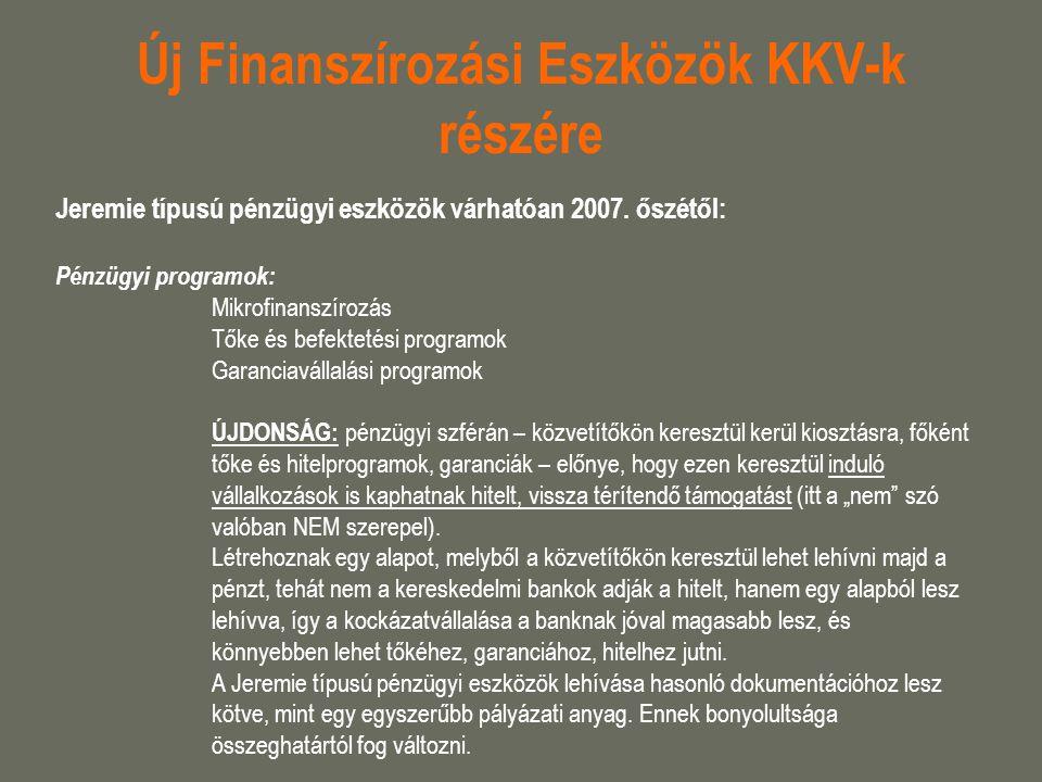 Új Finanszírozási Eszközök KKV-k részére