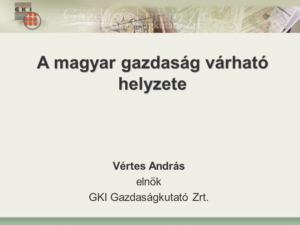 A magyar gazdaság várható helyzete