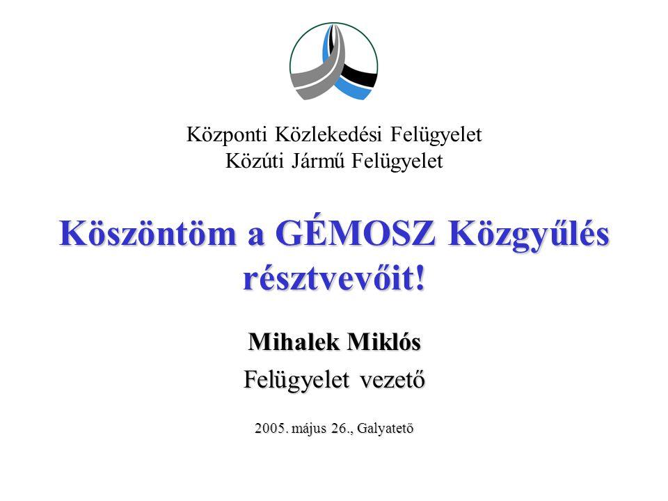 Mihalek Miklós Felügyelet vezető 2005. május 26., Galyatető