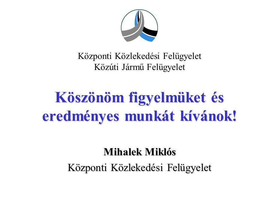 Mihalek Miklós Központi Közlekedési Felügyelet