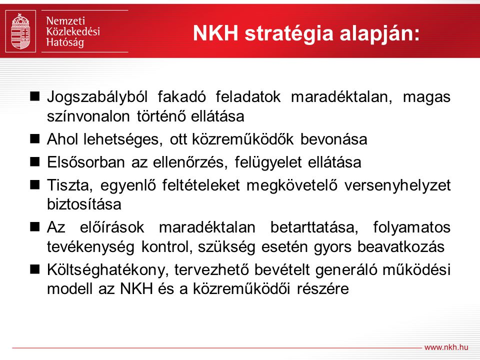 NKH stratégia alapján: