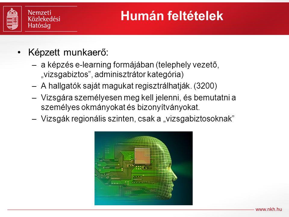 Humán feltételek Képzett munkaerő: