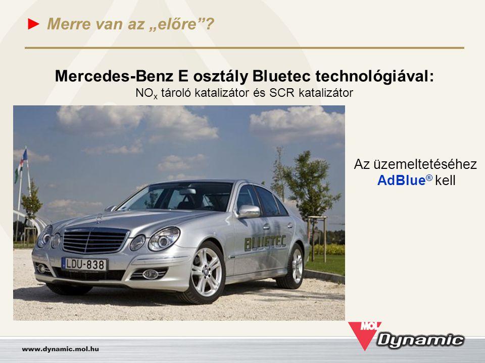 Mercedes-Benz E osztály Bluetec technológiával: