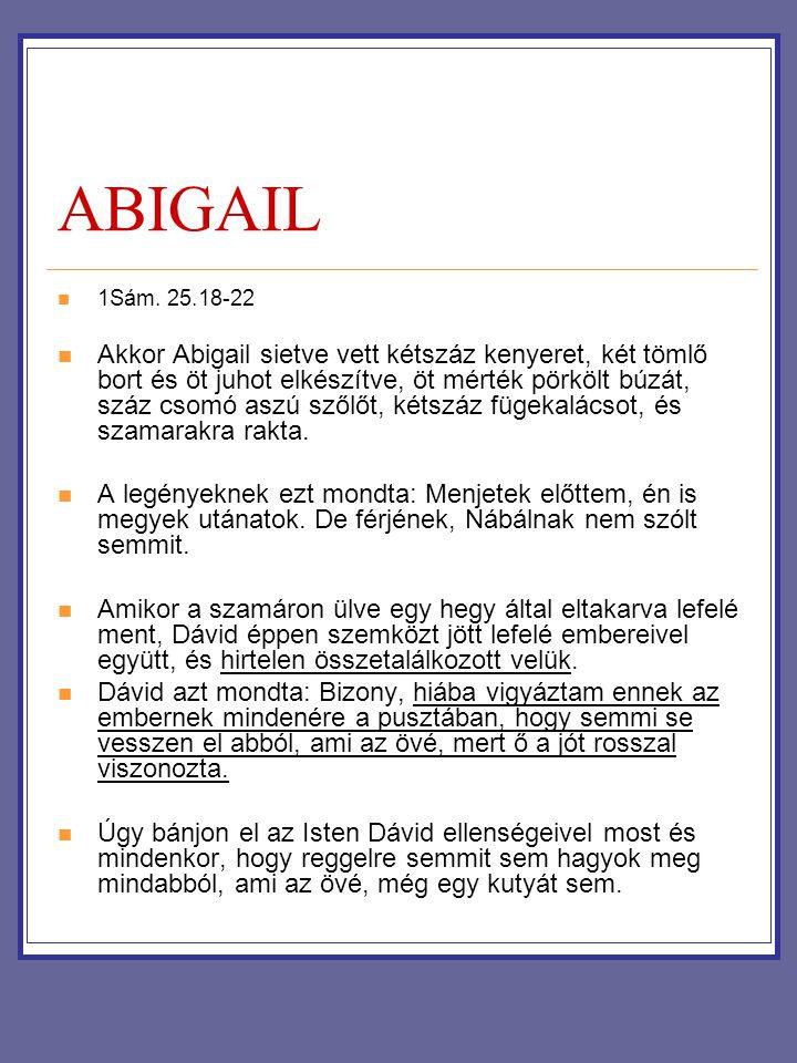 ABIGAIL 1Sám. 25.18-22.