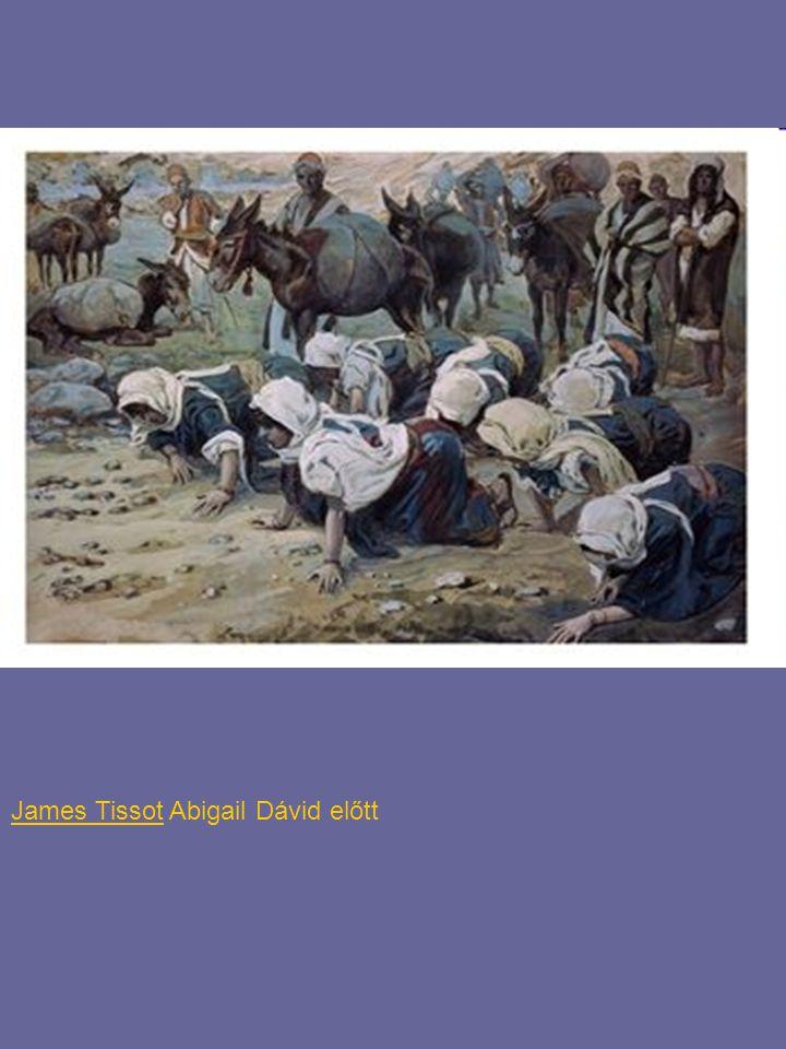 James Tissot Abigail Dávid előtt
