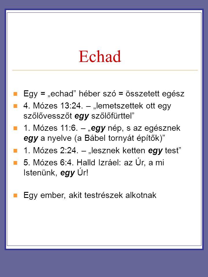 """Echad Egy = """"echad héber szó = összetett egész"""