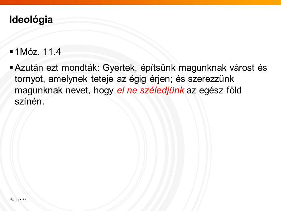Ideológia 1Móz. 11.4.