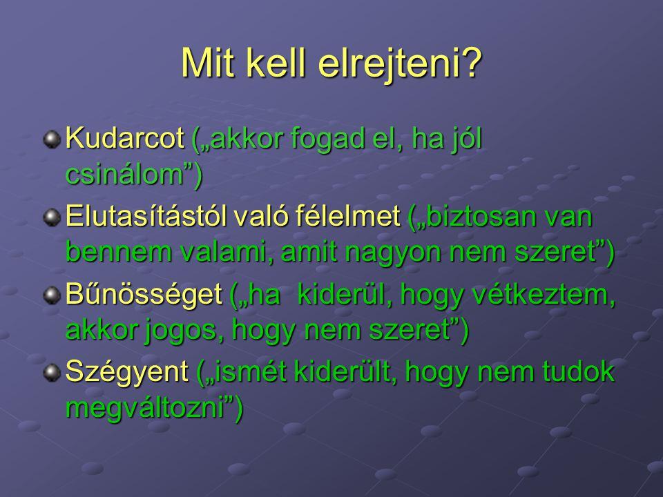 """Mit kell elrejteni Kudarcot (""""akkor fogad el, ha jól csinálom )"""