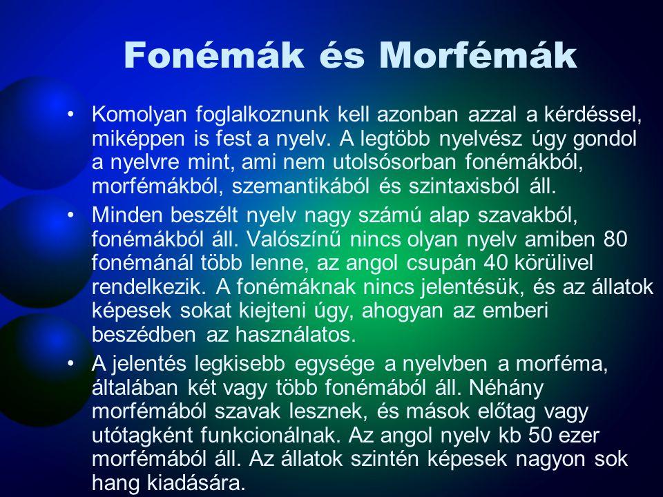 Fonémák és Morfémák
