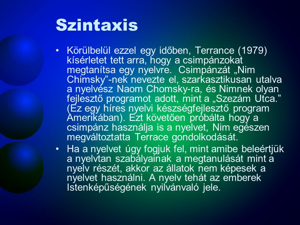 Szintaxis