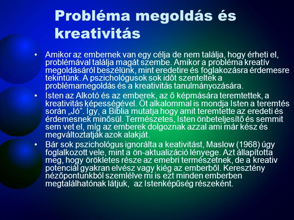 Probléma megoldás és kreativitás