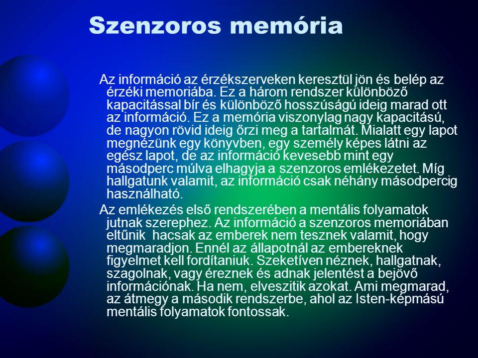 Szenzoros memória