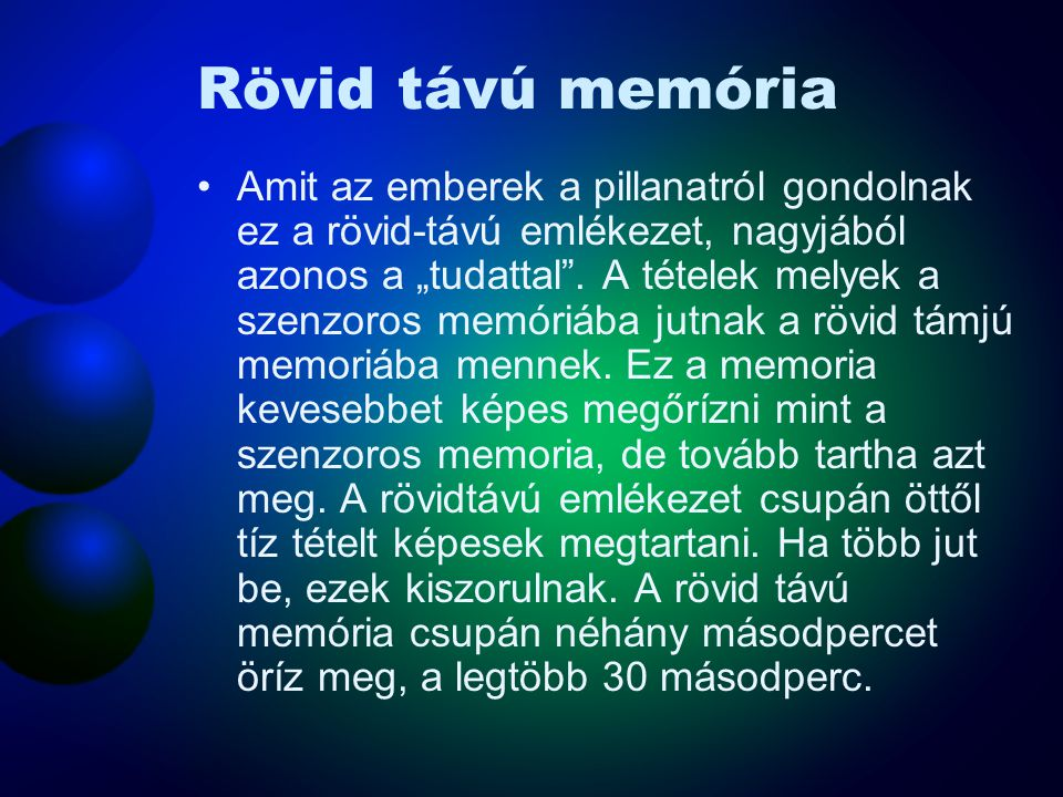 Rövid távú memória