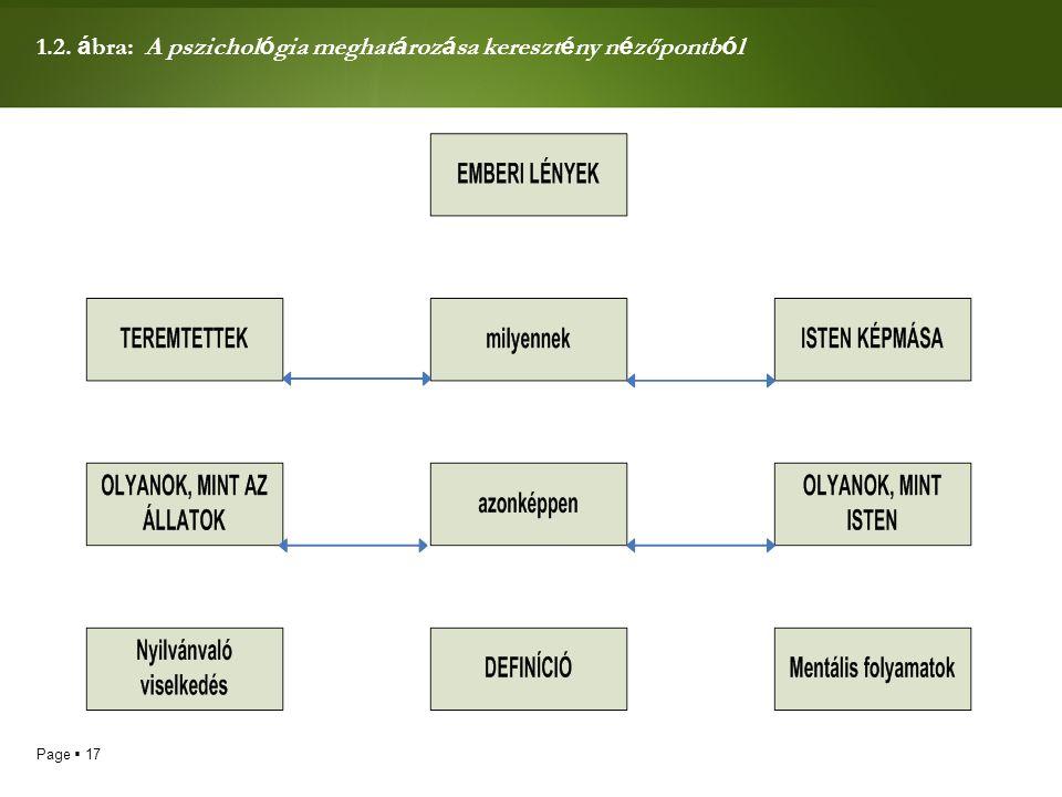 1.2. ábra: A pszichológia meghatározása keresztény nézőpontból