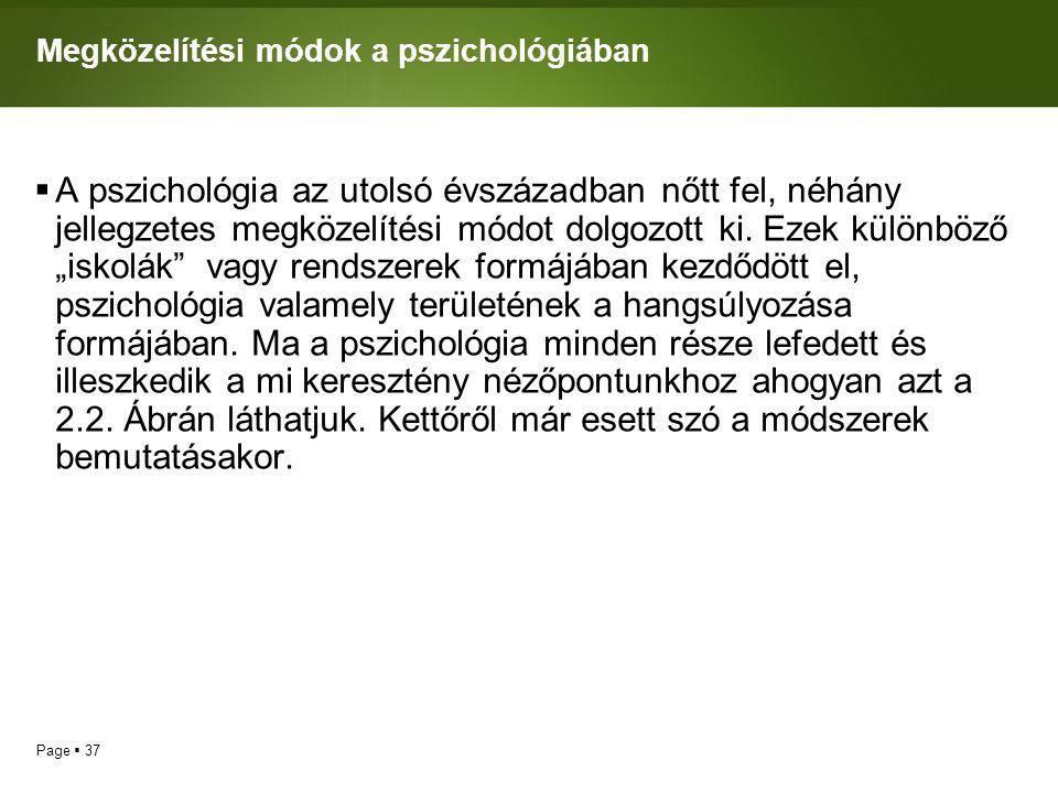 Megközelítési módok a pszichológiában