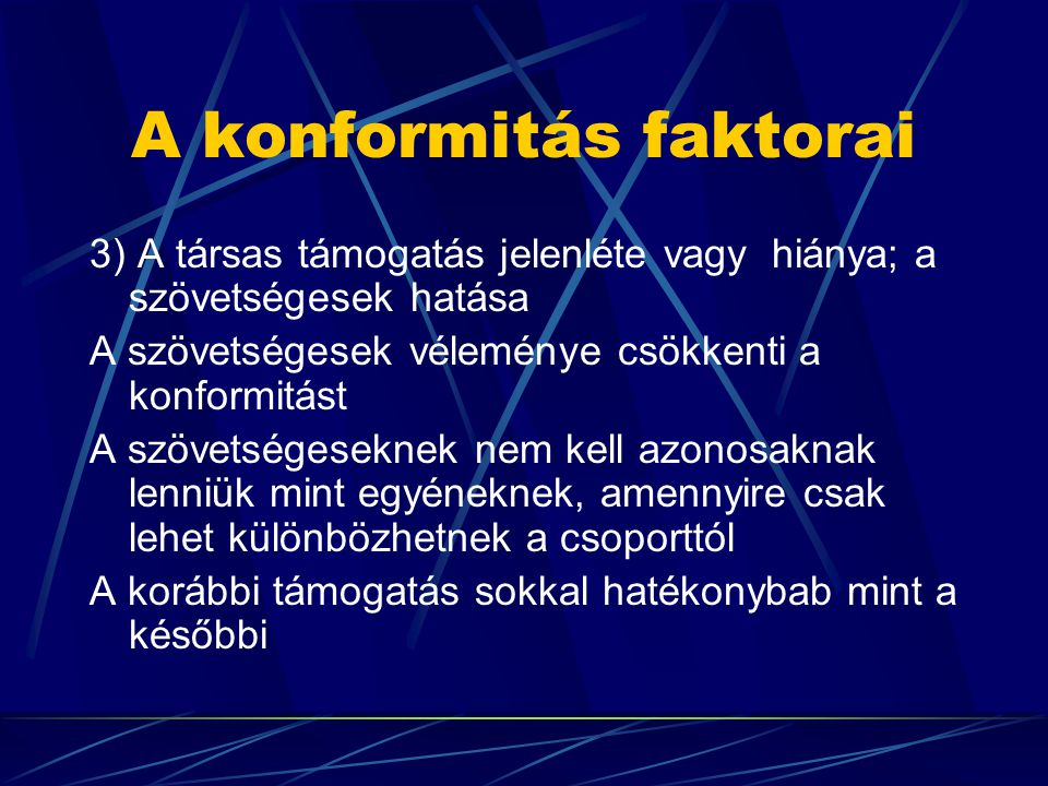 A konformitás faktorai