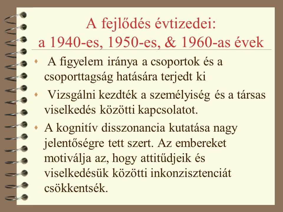 A fejlődés évtizedei: a 1940-es, 1950-es, & 1960-as évek