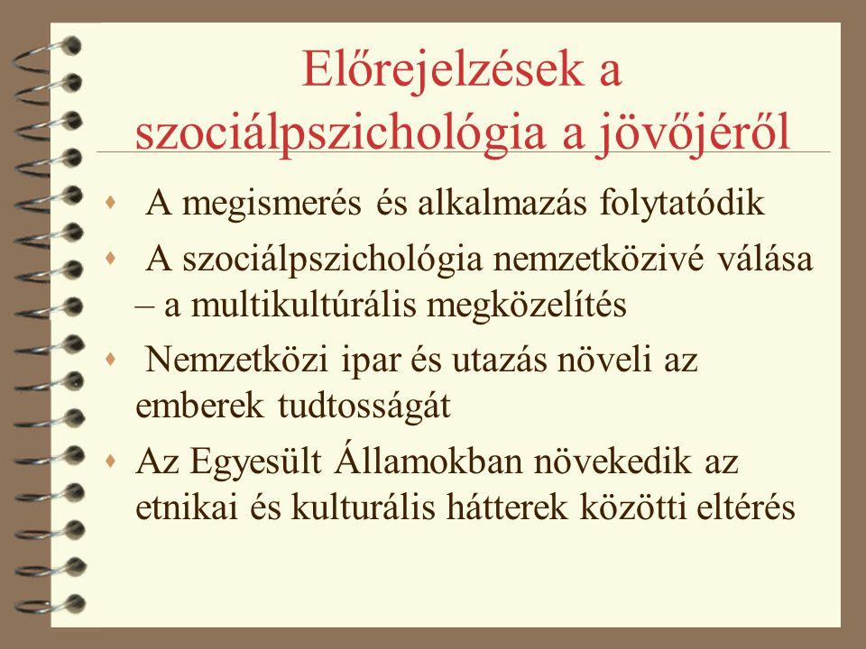 Előrejelzések a szociálpszichológia a jövőjéről