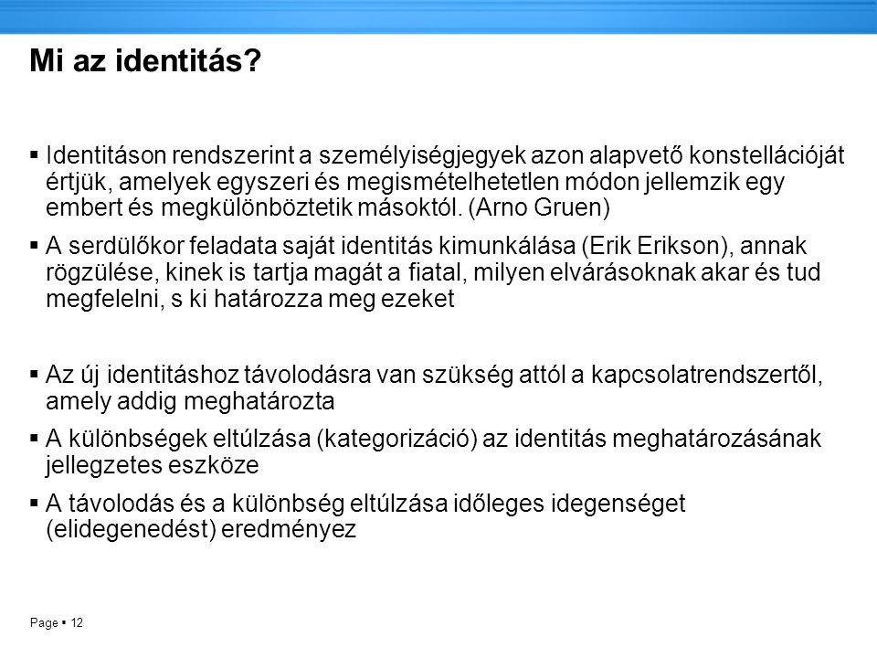 Mi az identitás