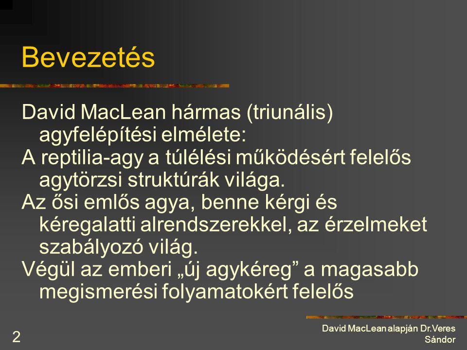 Bevezetés David MacLean hármas (triunális) agyfelépítési elmélete: