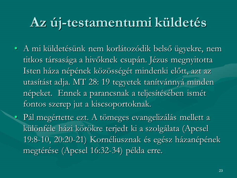Az új-testamentumi küldetés