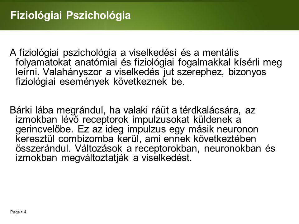 Fiziológiai Pszichológia