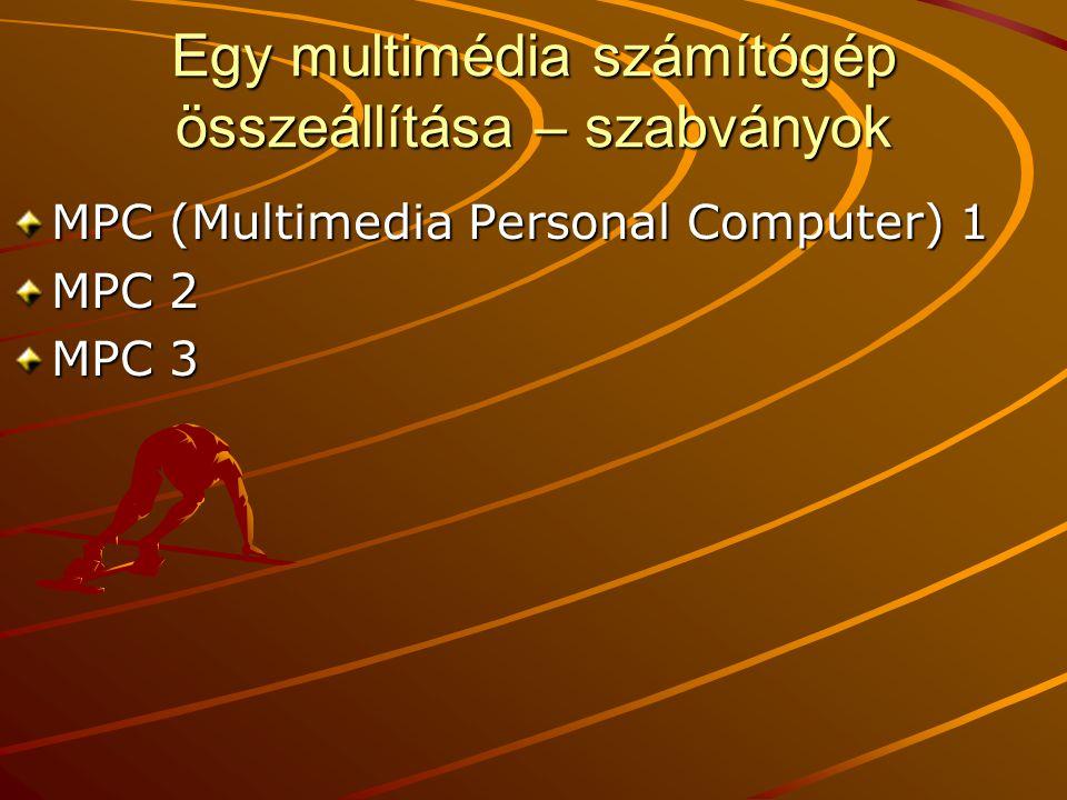 Egy multimédia számítógép összeállítása – szabványok