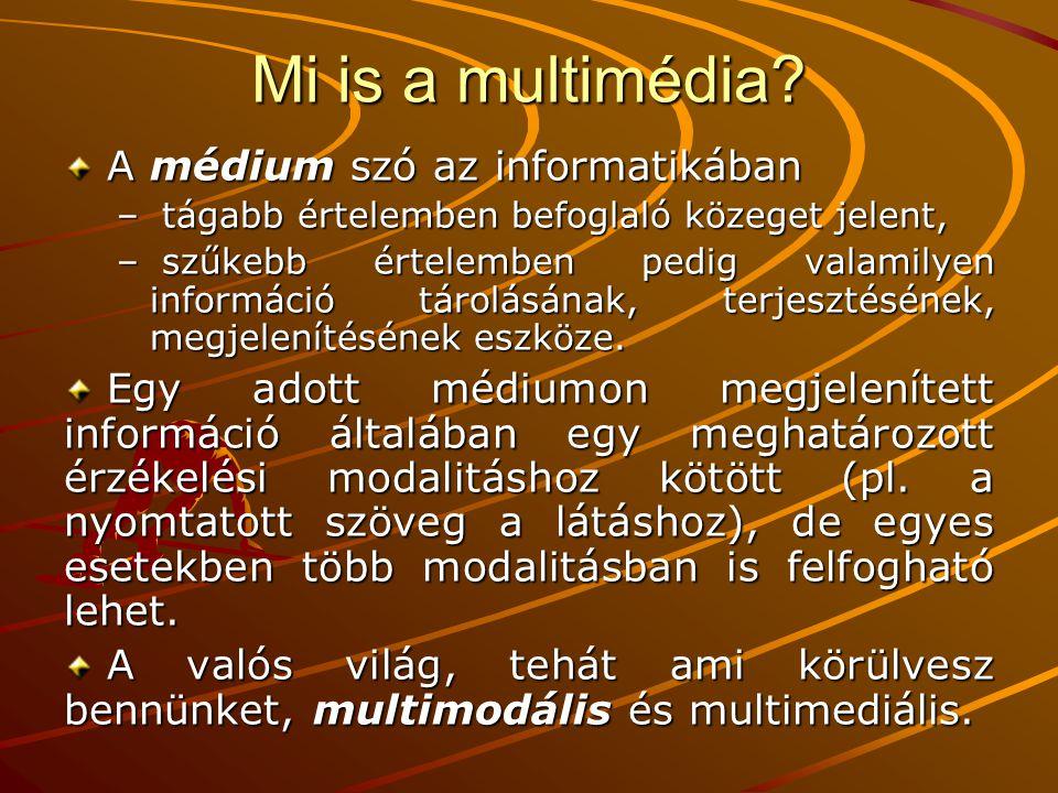 Mi is a multimédia A médium szó az informatikában