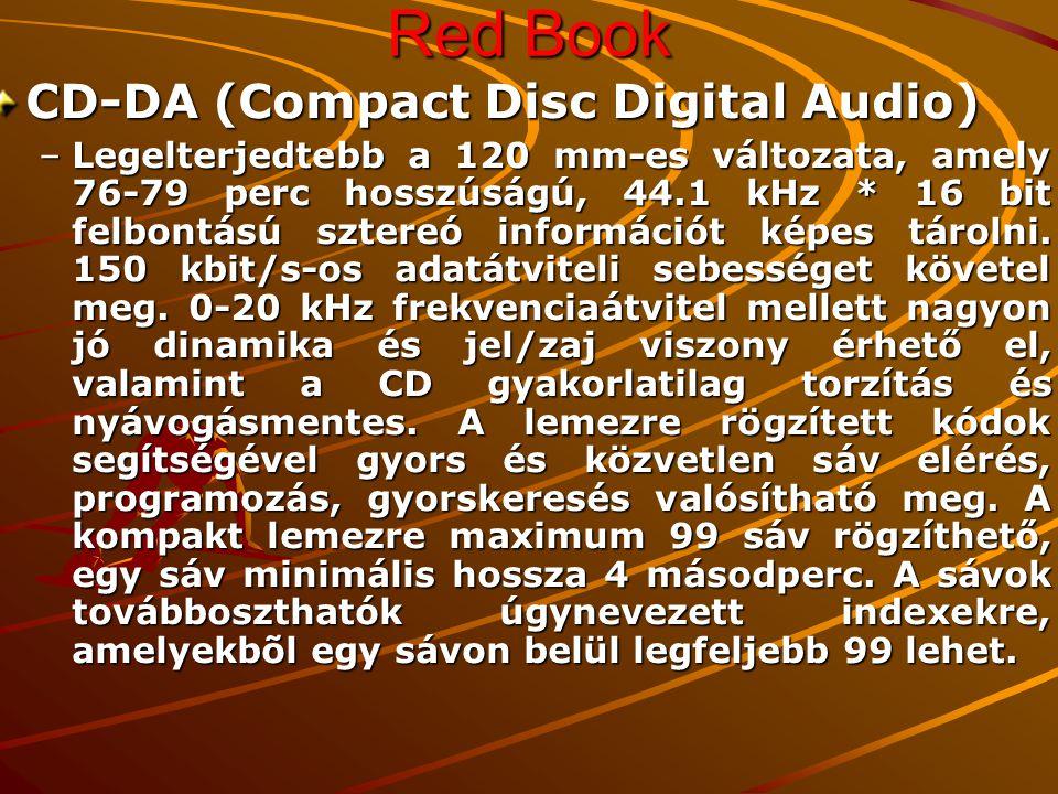 Red Book CD-DA (Compact Disc Digital Audio)