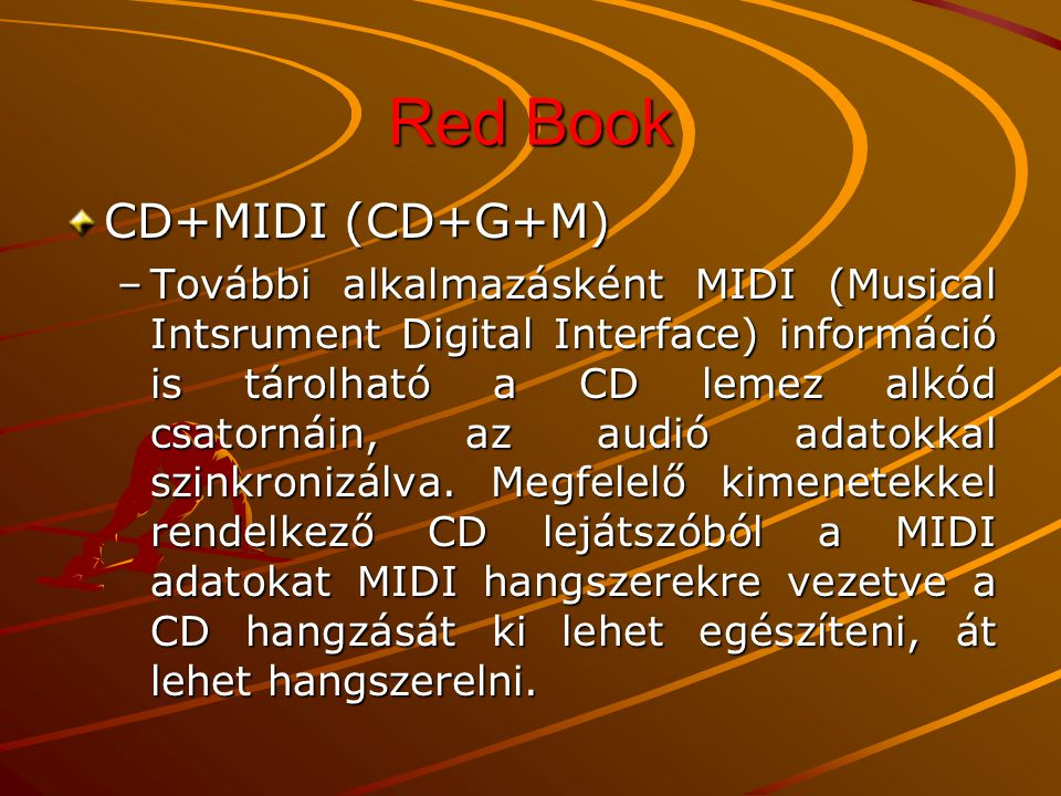 Red Book CD+MIDI (CD+G+M)