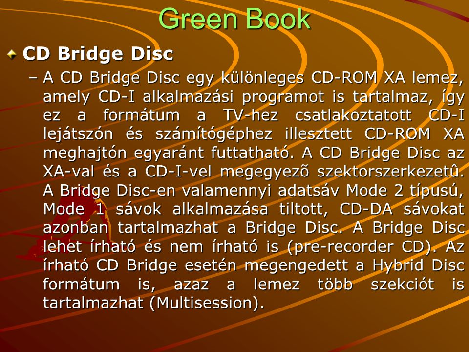 Green Book CD Bridge Disc