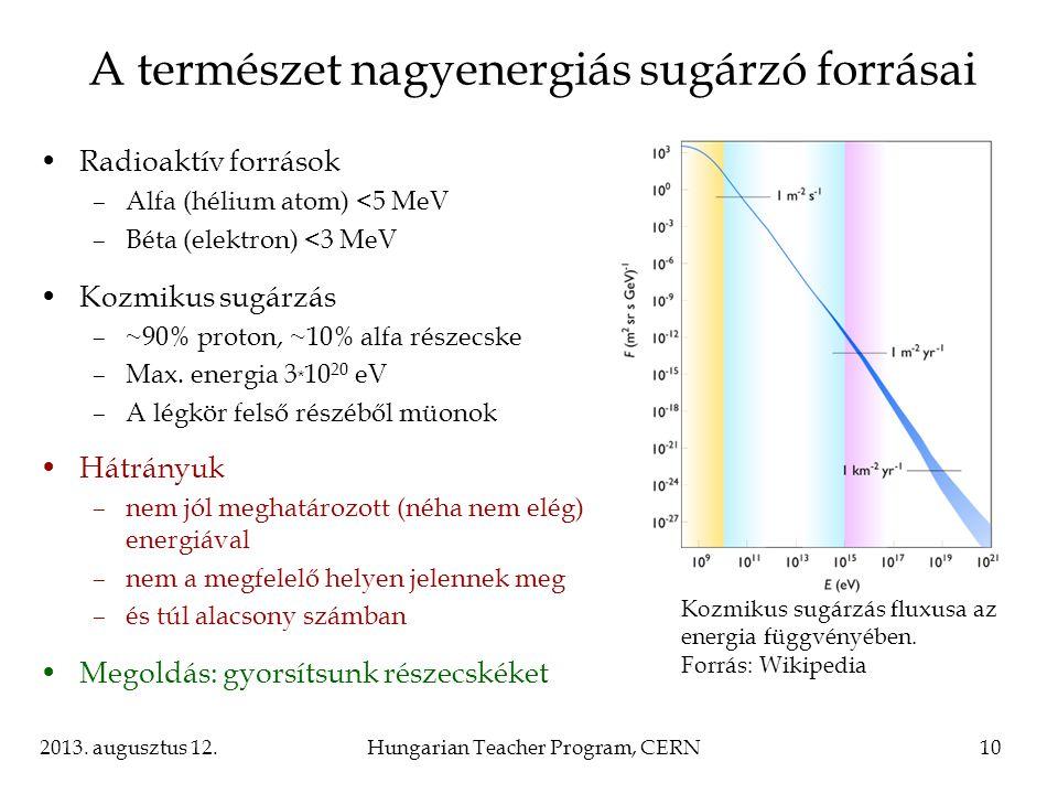 A természet nagyenergiás sugárzó forrásai