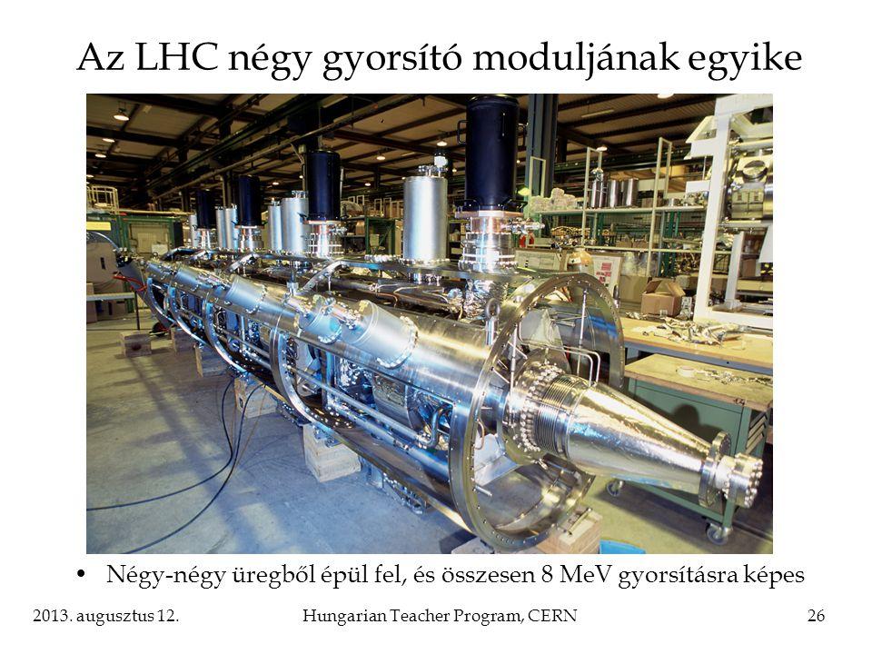 Az LHC négy gyorsító moduljának egyike