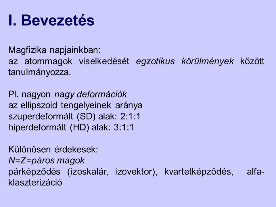 I. Bevezetés Magfizika napjainkban: