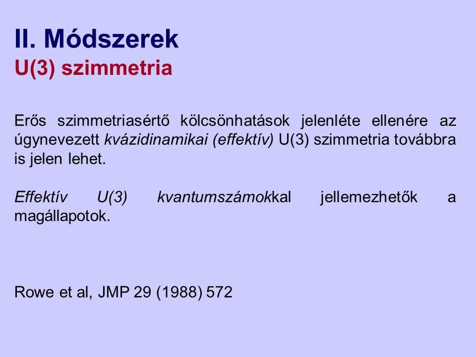 II. Módszerek U(3) szimmetria