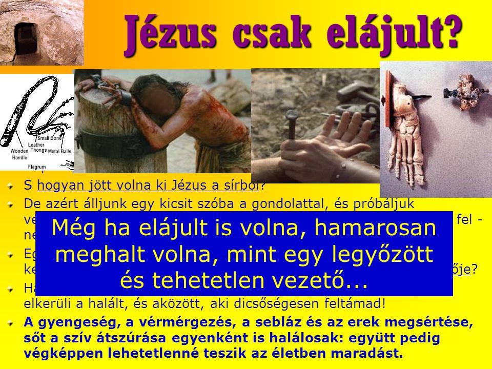 Jézus csak elájult A Venturini által évszázadokkal ezelőtt népszerűsített ájuláselmélet.