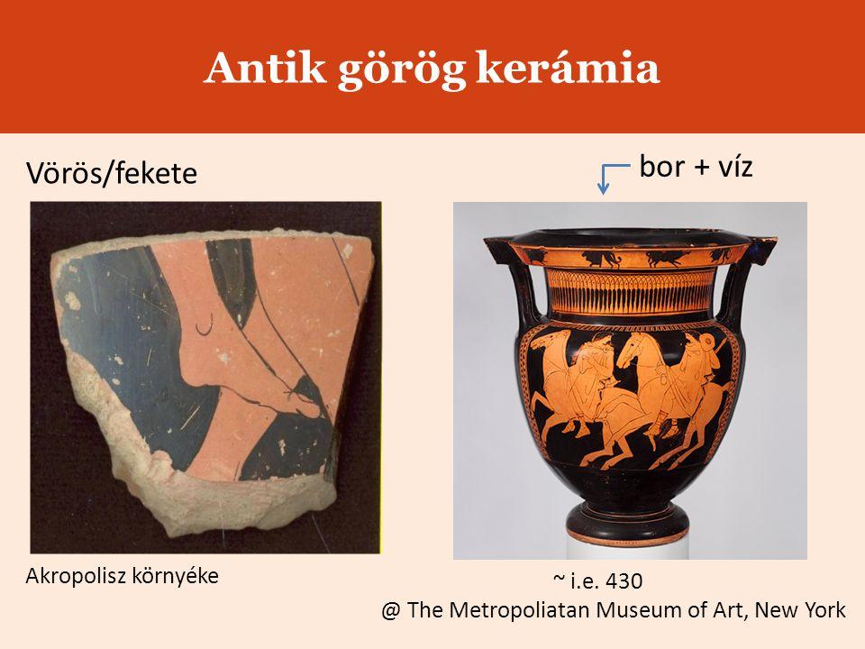 Antik görög kerámia bor + víz Vörös/fekete Akropolisz környéke