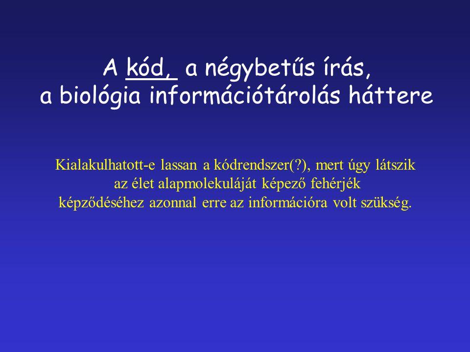 a biológia információtárolás háttere