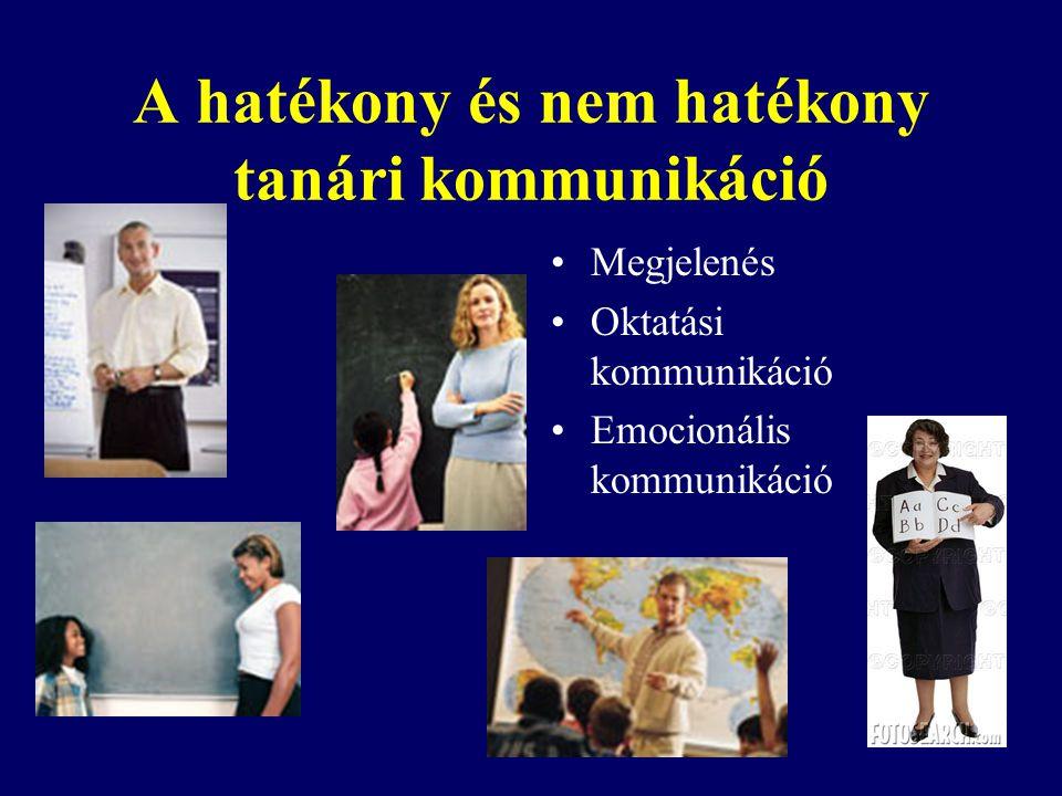 A hatékony és nem hatékony tanári kommunikáció