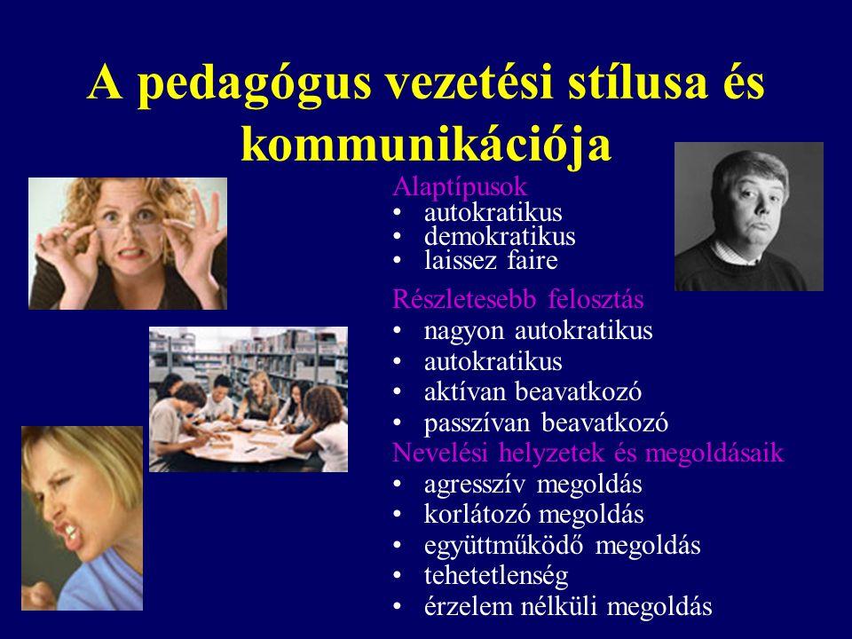 A pedagógus vezetési stílusa és kommunikációja