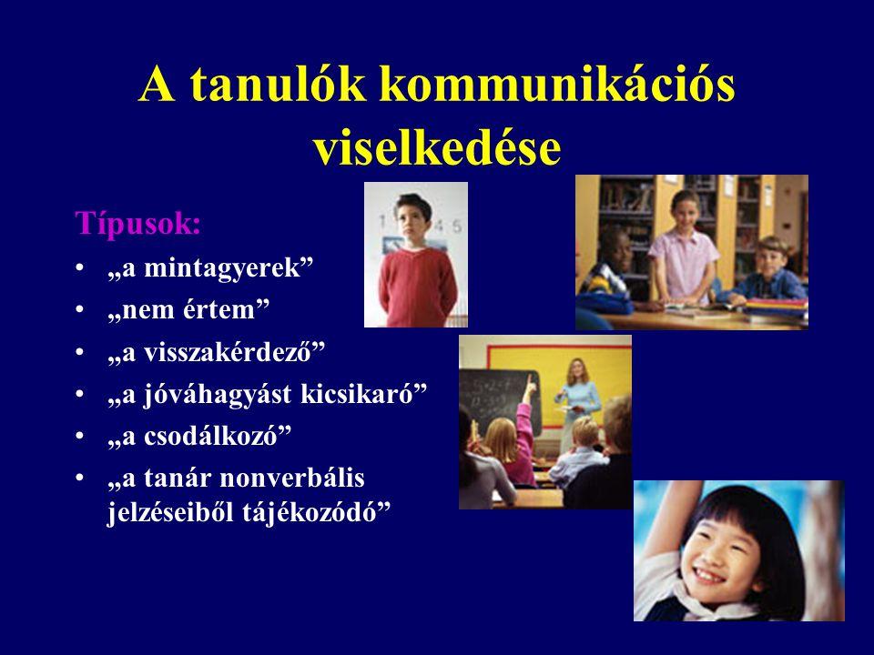 A tanulók kommunikációs viselkedése