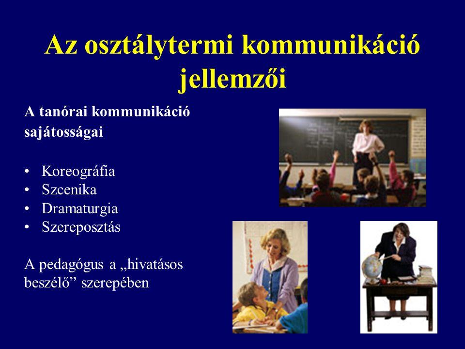 Az osztálytermi kommunikáció jellemzői