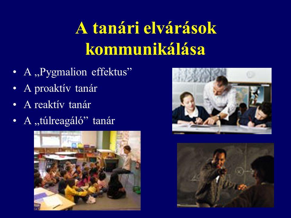 A tanári elvárások kommunikálása