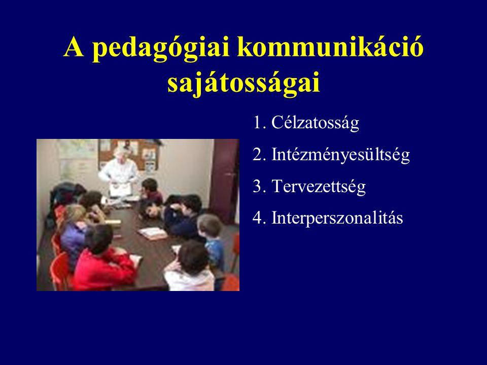 A pedagógiai kommunikáció sajátosságai