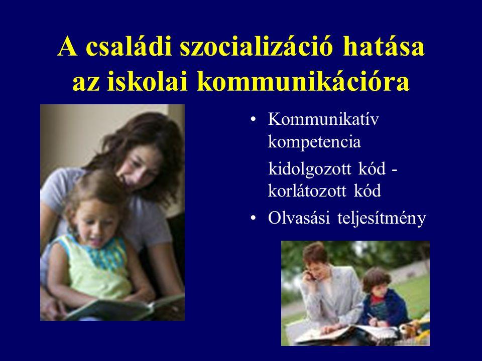 A családi szocializáció hatása az iskolai kommunikációra